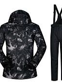 povoljno Džemperi i kardigani za bebe-Muškarci Skijaška jakna i hlače Vodootporno Ugrijati Vjetronepropusnost Skijanje Camping & planinarenje Snowboarding 100% poliester Vjetronepropusne jakne Snježni prsluk Skijaška odjeća / Zima