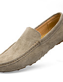 cheap Men's Belt-Men's Moccasin Cowhide Fall Classic / Casual Loafers & Slip-Ons Water Proof Gray / Blue / Khaki