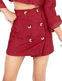 ieftine Fuste de Damă-bumbac femei asimetrice o fusta linie - talie solidă de culoare înaltă