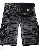 povoljno Muške duge i kratke hlače-Muškarci Ulični šik Traperice Hlače - Jednobojni Crn