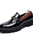 cheap Men's Pants & Shorts-Men's Formal Shoes Faux Leather Fall British Loafers & Slip-Ons Black / Wedding / Party & Evening / Wedding / Party & Evening