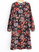 abordables Bufandas de Raso Chics-Mujer Vintage Pantalones - Floral Blanco y Negro Rojo / Manga Farol