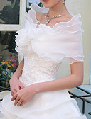 preiswerte Hochzeit Schals-Ärmellos Baumwolle / Organza Hochzeit / Party / Abend Wickeltücher für Frauen Mit Einfarbig Schals