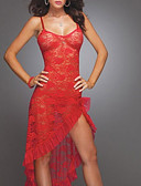 cheap Sexy Bodies-Women's Sexy Chemises & Gowns Nightwear - Lace / Mesh Solid Colored
