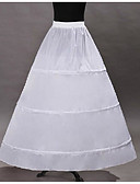 cheap Historical & Vintage Costumes-Classic Lolita Lolita Organza Women's Petticoat Cosplay White Floor Length Long Length Costumes