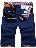 hesapli Erkek Pantolonları ve Şortları-Erkek Sokak Şıklığı Günlük Chinos / Şortlar Pantolon - Solid Havuz Haki Navy Mavi 34 36 38
