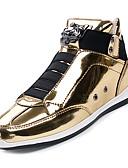 cheap Men's Shirts-Men's Comfort Shoes PU(Polyurethane) Fall Sneakers Gold / Black / Silver