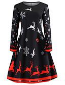 povoljno Obiteljski komplet odjeće-Žene Party Elegantno Korice Haljina Jednobojni Geometrijski oblici Do koljena Visoki struk / Sexy