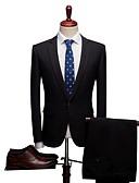 זול חליפות-אחיד גזרה רגילה ספנדקס / פוליסטר חליפה - פתוח Single Breasted One-button