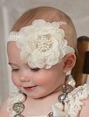 Χαμηλού Κόστους Παιδικά Αξεσουάρ Κεφαλής-Νήπιο Κοριτσίστικα Μονόχρωμο Αξεσουάρ Μαλλιών Λευκό / Ανθισμένο Ροζ / Πράσινο Ανοικτό Ένα Μέγεθος / Κεφαλόδεσμοι