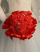 Недорогие Свадебные цветы-Свадебные цветы Букеты Свадьба / Свадебные прием Камни и кристаллы / Шелк 11-20 cm