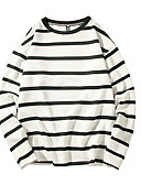 お買い得  メンズTシャツ&タンクトップ-男性用 Tシャツ ベーシック ストライプ