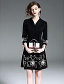 ieftine Rochii Plus Size-Pentru femei De Bază Pantaloni - Mată Talie Înaltă Negru / În V