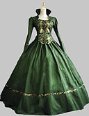 cheap Petticoats-Rococo Victorian 18th Century Costume Classic Lolita Dress Women's Dress Party Costume Masquerade Green Vintage Cosplay Satin Party Prom Sleeveless Knee Length Floor Length Ball Gown Plus Size
