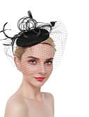 cheap Women's Headpieces-Women's Vintage / Elegant Headband / Hair Clip / Fascinator - Solid Colored Mesh