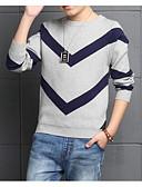 זול חולצות לבנים-סוודר וקרדיגן כותנה שרוול ארוך פסים בסיסי בנים ילדים