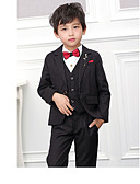 お買い得  スーツ-バーガンディー / ブラック POLY / コットン混 リングベアラースーツ - 3個 含まれています ジャケット / ベスト / パンツ