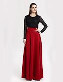 billige Nederdele-Dame Plusstørrelser Sofistikerede Maxi Gynge Nederdele - I-byen-tøj Ensfarvet