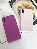 hesapli iPhone Kılıfları-Pouzdro Uyumluluk Apple iPhone XS / iPhone XR / iPhone XS Max Buzlu Arka Kapak Solid Yumuşak TPU
