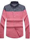 billige Herreskjorter-Herre - Farveblok Gade Skjorte