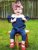 お買い得  赤ちゃん ロンパース&カバーオール-赤ちゃん 女の子 ベーシック 日常 ソリッド / プリント ベーシック 半袖 コットン / アクリル ワンピース ネービーブルー / 幼児