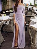 tanie Sukienki sylwestrowe-Damskie Impreza Seksowny / Elegancja Szczupła Bodycon Sukienka Rozcięcie Z odsłoniętymi ramionami Maxi