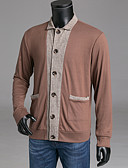 cheap Men's Sweaters & Cardigans-Men's Weekend Long Sleeve Wool Slim Cardigan - Color Block Stand