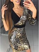 tanie Sukienki sylwestrowe-Damskie Elegancja Szczupła Spodnie Czarny / Głęboki dekolt w serek