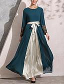 abordables Vestidos Maxi-Mujer Noche Chic de Calle Elegante Abaya Kaftan Vestido Un Color Maxi