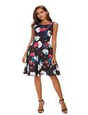 Χαμηλού Κόστους Print Dresses-Γυναικεία Κομψό στυλ street / Κομψό Παντελόνι - Φλοράλ Rose, Στάμπα Μαύρο / Εξόδου / Sexy