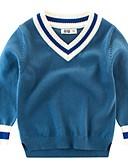 זול חולצה-סוודר וקרדיגן שרוול ארוך דפוס בסיסי בנים פעוטות
