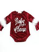 ieftine Ceasuri La Modă-Bebelus Fete Vintage / Activ Școală / Concediu Imprimeu Imprimeu Manșon Lung Spandex bodysuit Roșu Vin / Copil