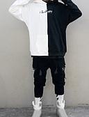 お買い得  メンズフーディー&スウェットシャツ-男性用 プラスサイズ ストリートファッション ルーズ 長袖 パーカー - カラーブロック フード付き