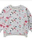 billige Babykjoler-Baby Jente Aktiv Trykt mønster Langermet Normal Polyester Hettegenser og sweatshirt Grå