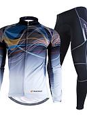 economico Vestiti a fantasia-Nuckily Per uomo Manica lunga Maglia con pantaloni da ciclismo - Mimetico Bicicletta Set di vestiti Ompermeabile Tenere al caldo Antivento Strisce riflettenti Inverno Gli sport Poliestere Velluto