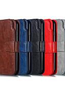 זול מגנים לטלפון-מגן עבור Huawei P smart / Mate 10 pro / Mate 10 lite ארנק / מחזיק כרטיסים / עם מעמד כיסוי מלא אחיד קשיח עור PU