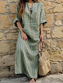 cheap Maxi Dresses-Women's Plus Size Daily Basic Asymmetrical Loose Shift Dress V Neck Black Red Gray XXXL XXXXL XXXXXL