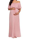 Χαμηλού Κόστους Φορέματα Παρανύμφων-Γυναικεία Βασικό Θήκη Φόρεμα - Μονόχρωμο Μακρύ