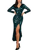 preiswerte Abendkleider-Trompete / Meerjungfrau V-Ausschnitt Knöchel-Länge Pailletten Formeller Abend Kleid mit Paillette durch LAN TING Express