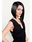 povoljno Ženska odjeća-Ljudska kosa 100% rađeno rukom Lace Front Perika Bob frizura stil Brazilska kosa Ravan kroj Perika 130% 150% Gustoća kose s dječjom kosom Prirodna linija za kosu Afro-američka perika 100% rađeno rukom