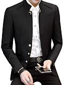 povoljno Muški sakoi i odijela-Muškarci Dnevno Veći konfekcijski brojevi Normalne dužine Sako, Jednobojni Ruska kragna Dugih rukava Pamuk / Akril / Poliester Crn / Navy Plava / Lila-roza XXL / XXXL / 4XL / Poslovni casual / Slim