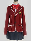 cheap Historical & Vintage Costumes-Inspired by Guilty Crown Inori Yuzuriha Anime Cosplay Costumes School Uniforms British / Contemporary Cravat / Coat / Blouse For Men's / Women's