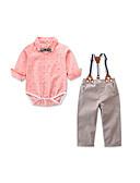 זול לבנים סטים של ביגוד לתינוקות-סט של בגדים כותנה שרוול ארוך דפוס דפוס חגים פעיל / בסיסי בנים תִינוֹק / פעוטות