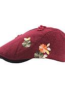 billige T-shirts og undertrøjer til herrer-Dame Vintage Aktiv Baret-Bomuld Polyester Blomstret Alle årstider Rød Lyserød Marineblå