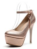 hesapli Kuvars Saatler-Kadın's Ayakkabı Sentetikler Sonbahar Topuklular Stiletto Topuk Yuvarlak Uçlu Düğün / Parti ve Gece için Altın / Gümüş / Pembe