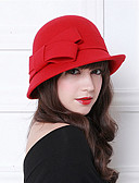 cheap Historical & Vintage Costumes-The Marvelous Mrs. Maisel Women's Adults' Ladies Retro / Vintage Cloche Hat Hat Gray Brown Red Bowknot Wool Lolita Accessories