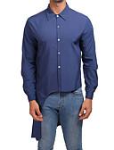 رخيصةأون سترات و بدلات الرجال-رجالي قطن قميص رياضي Active / أناقة الشارع لون سادة أسود L / كم طويل