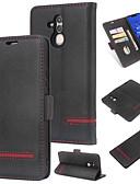 billige Mobilcovers-Etui Til Huawei Huawei Mate 20 Lite Pung / Kortholder / Flip Bagcover Ensfarvet Hårdt PU Læder for Huawei Mate 20 lite