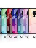 זול מגנים לטלפון-מגן עבור Huawei Mate 10 lite / Huawei Mate 20 lite / Huawei Mate 20 pro מראה / תבנית כיסוי אחורי צבע הדרגתי קשיח זכוכית משוריינת