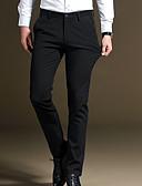 お買い得  メンズシャツ-男性用 ベーシック プラスサイズ スーツ パンツ - ソリッド ブルー